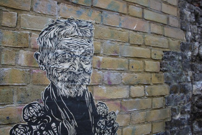Swoon Street Artist London 1 650x433 New Street Art: Swoon Hits London