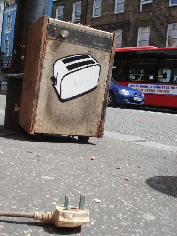 Toasters street art