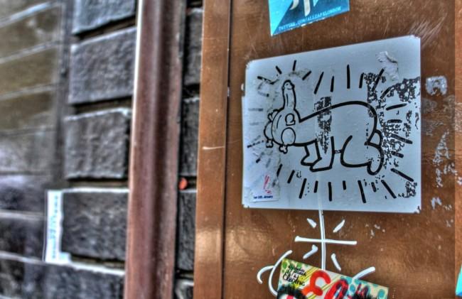 Dickchicken street art