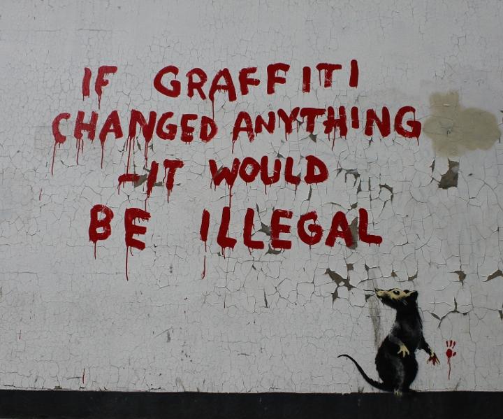 Banksy Street Art London If Graffiti Changed Anything It