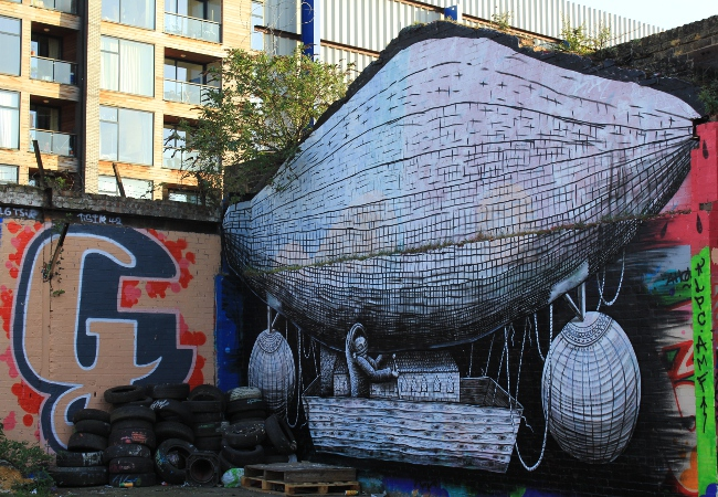 Street artist Phelgm street art