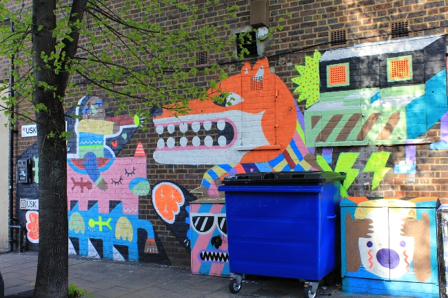 Malarky street art in London