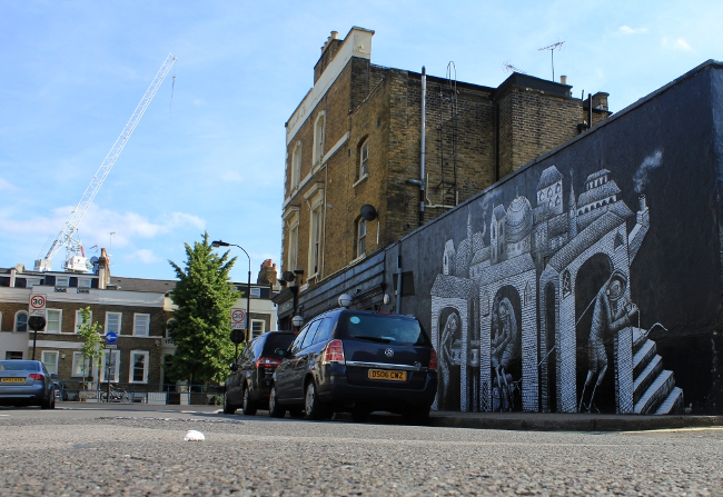 Phlegm, street art in West London