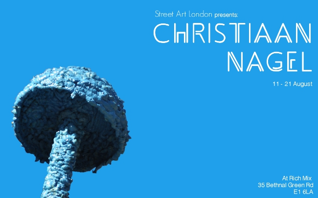 Christiaan Nagel mushroom street art exhibition