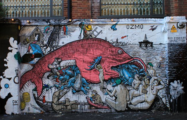 Ozmo street art in London