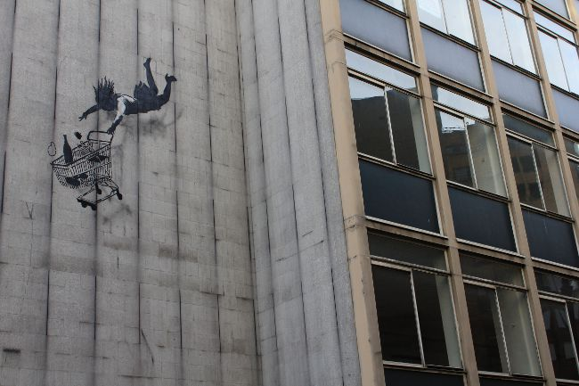 Banksy Street Art Shop Till You Drop