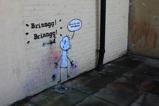 Banksy Street Art Tap Phoned