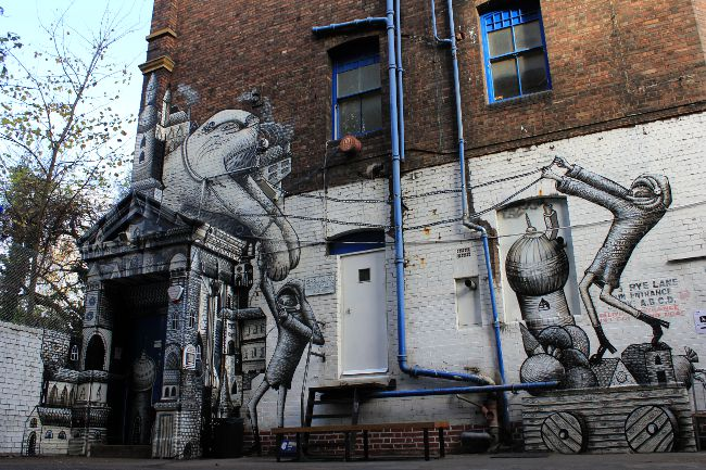 ROA Phlegm Peckham Street Art London