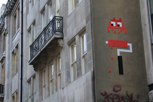 Invader street artist. Street Art London