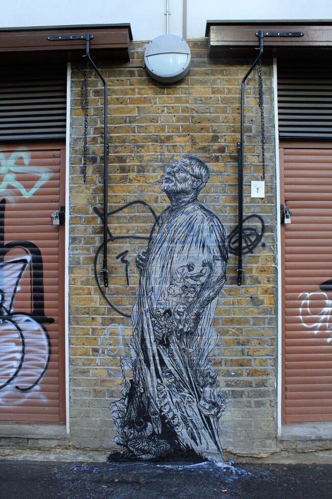 Street artist Swoon in London