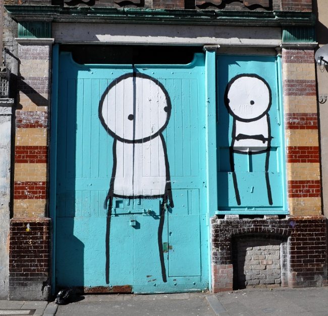 Stik street art in London