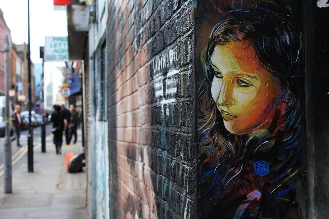 C215 street art on Brick Lane, East London