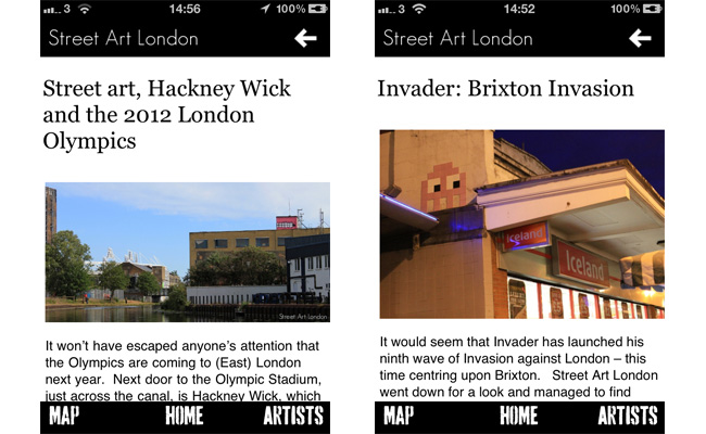 Street Art London iPhone App News