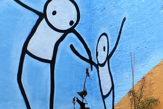 Stik Dulwich picture gallery street art london