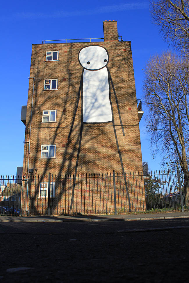Stik street art in East London