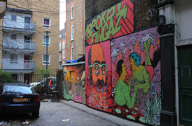 Broken Fingaz Crew street art London