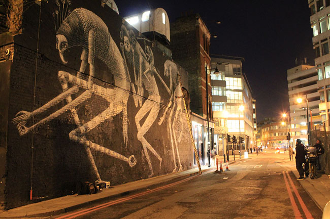 Phlegm Village Underground Wall Street Art London