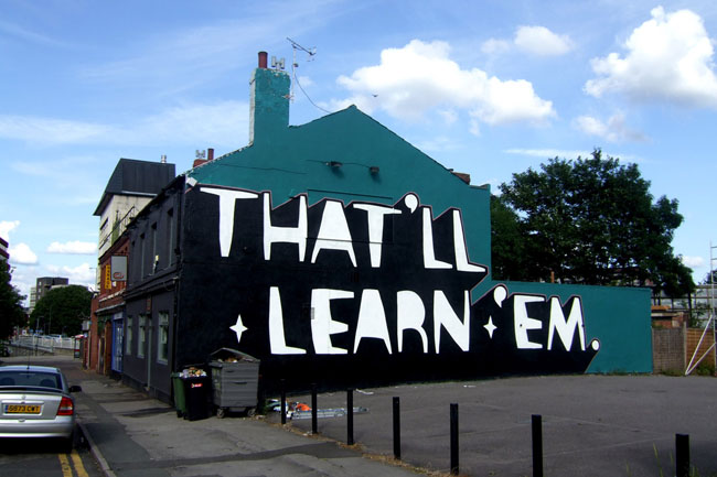 Kid Acne Slogan Street Art