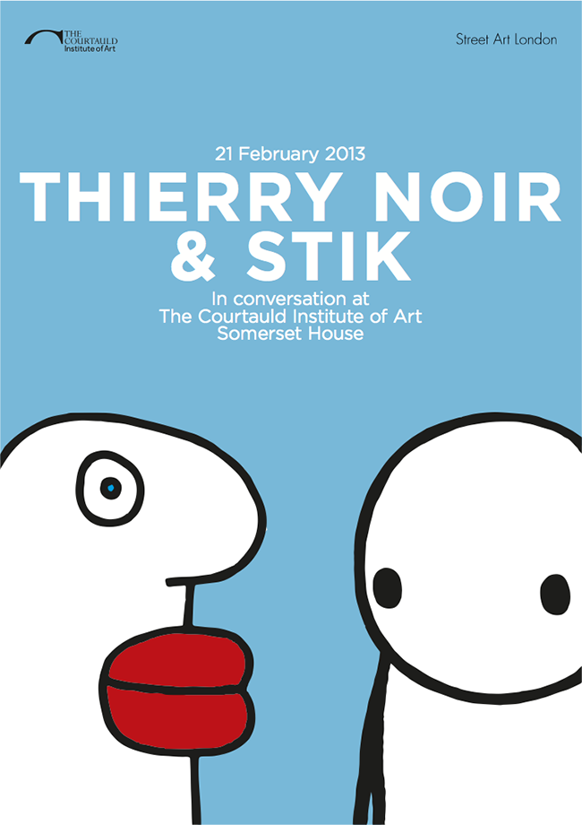 Thierry Noir and Stik at the Courtauld Institute