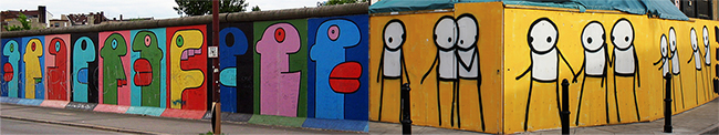 Thierry Noir and Stik