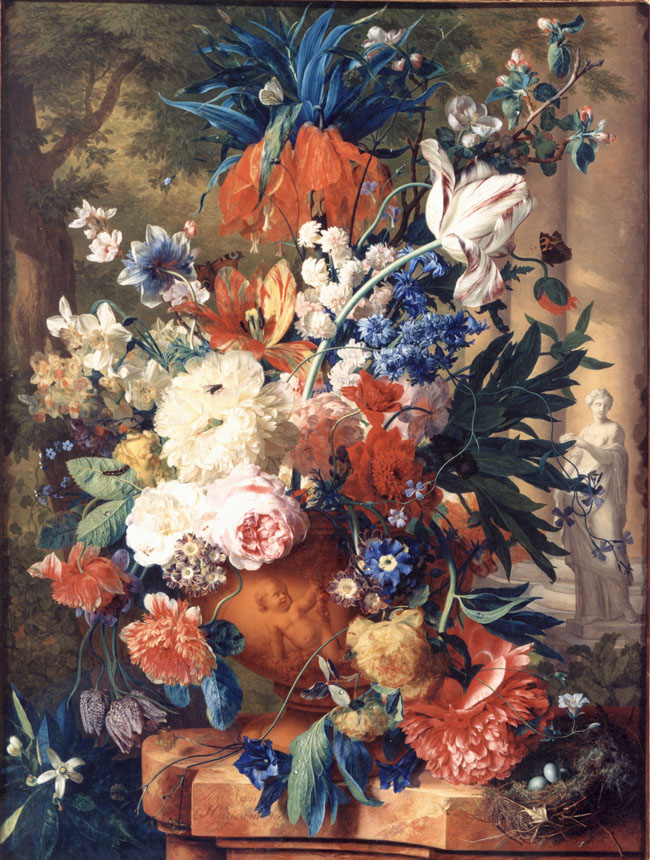 Van Huysum - Still Life with Flowers in a Stone Vase - MadC