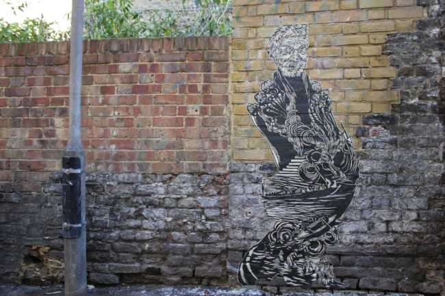 Swoon Street Artist London 4 650x433 New Street Art: Swoon Hits London
