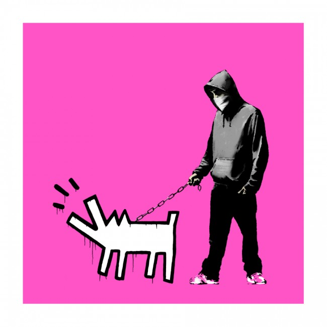 Bansky Choose Your Weapon - Bright Pink