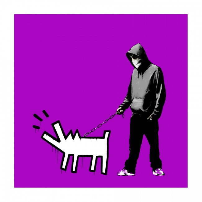 Bansky Choose Your Weapon Print - Bright Purple
