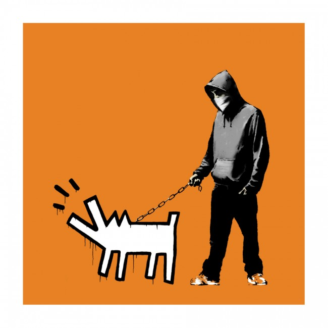 Bansky Choose Your Weapon Print Dark Orange