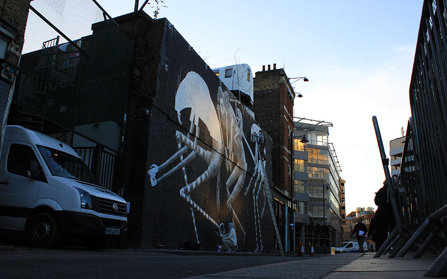Street Art London Phlegm Village Underground
