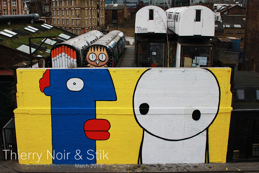 Thierry Noir and Stik Village Underground Wall